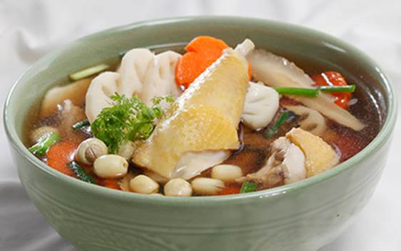 Chicken and Lotus Seed Soup